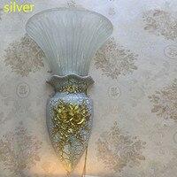 Postmodern Resin Wall Light with glass shade Aisle Garden Vase commercial lighting Arandela glass mirror lamp Bathroom Lighting
