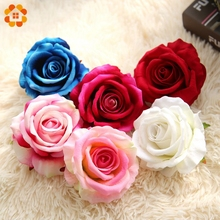 High Quality!5PCS 10CM Artificial Flowers Rose Silk Flower Heads Home Decor Wedding Favors DIY Decoration