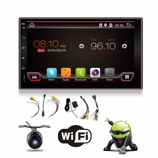 2 din android 4.4 2din New universal Car Radio Double Car  Player GPS Navigation In dash Car PC Stereo video