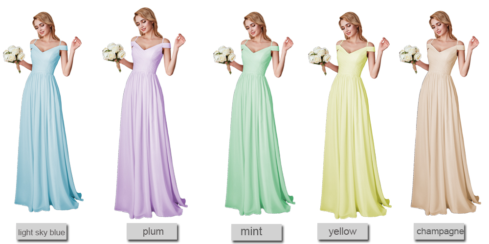 Elegant Cap Sleeve Pink Chiffon Long Bridesmaid Dress