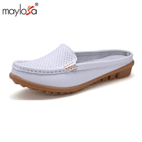 2016 Fast Shipping Oxfords Sole Genuine Leather Women Flat Shoes 4 Colors Leisure Casual Shoes Hollow