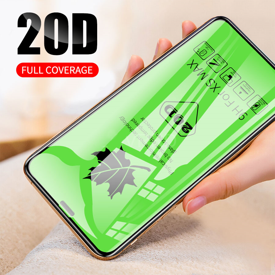 Akcoo Original 20D Curved Full Cover Film For IPhone XS Tempered Glass For IPhone 6s 7 8 Plus XR XS Max Protector Cover Case