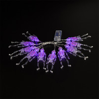 1X1 65M Halloween Decorative Led String Light 10LED Skeleton Shape String Lights LED Lights 2 AA