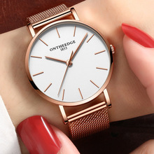 Top Luxury Brand Women Watches Ultra Thin Stainless Steel Clock bayan kol saati Quartz Watch Women Waterproof Casual Wristwatch
