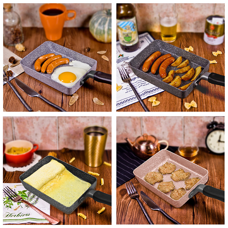 13.5x18.5 CM Japanese Tamagoyaki Pan Non-stick General Use for Gas and Induction Cooker Frying Pan Egg Pan Pancake Pot