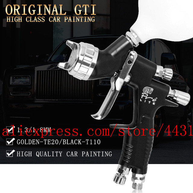 lvmp professional gti pro lite spray gun TE20 T110 1.3/1.8mm water based paint car automotive paint spray gun