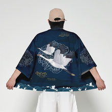 Kimono Cardigan Men Japanese Obi Male Yukata Men's Haori Short Outwear Japanese Samurai Clothing Traditional Japanese Clothing(China)