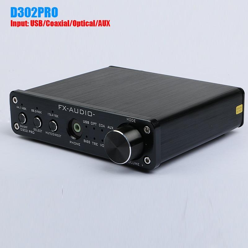 FX Audio D302PRO STA369BW PCM1808 AK4113VF Digital headphone amplifier Audio Input USB Coaxial Optical AUX Support