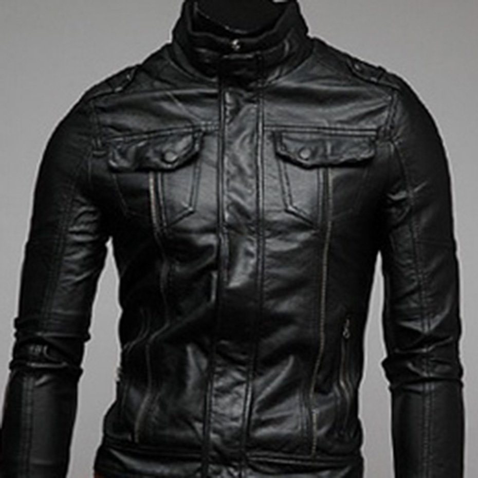 Zogaa Spring and Autumn 2019 Classic Style Motorcycling PU Leather Jackets Men Slim Motor Jacket Men's Clothes Fitness Fashion