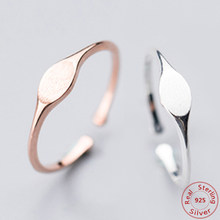 Simple 100% Real 925 Sterling Silver Rose Gold สีนิ้วมือแหวน Anillos (China)
