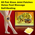 60Pairs Feet SPA Foot Care Patch Patches Knee Meridian Joint Shouler Detox Self-Heating Ginger Dispelling Cold  Foot Massage
