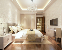 Beibehang Papel De Parede Modern Simple Lotus Non Woven Wall Paper Warm Living Room TV Background