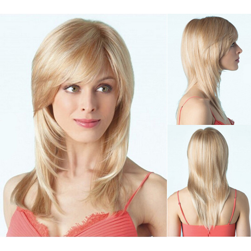 Celebrity Lady Wigs Gorgeous Long Layered Blonde Wig For Women