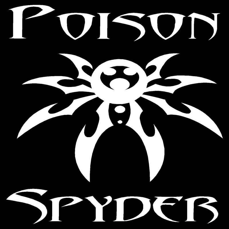 13cm*13cm Poison Spyder Fashion Car-Styling Car Stickers Vinyl Decal  c1-05055