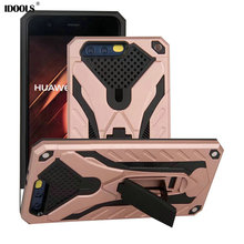 hot deal buy case for huawei p10 cover trending style anti knock pc tpu coque with kickstand 5.1 inch phone bags cases for huawei p10 fundas