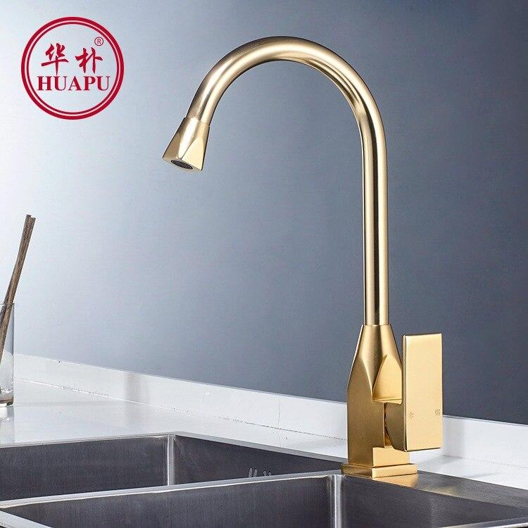Robinet Vertical cuisine chaud et froid évier mélangeur espace aluminium brossé robinet d'eau robinet pour cuisine/salle de bain lampe douche V - 2