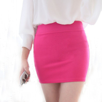 2015 Summer Black Elastic Slim Hip Short Skirt High Waist Skirt Bust Skirt Slim Step Basic