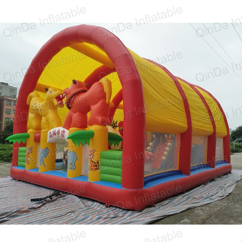 Latest Inflatable Amusement Park,inflatable Indoor Playground,inflatable Fun City With Tent