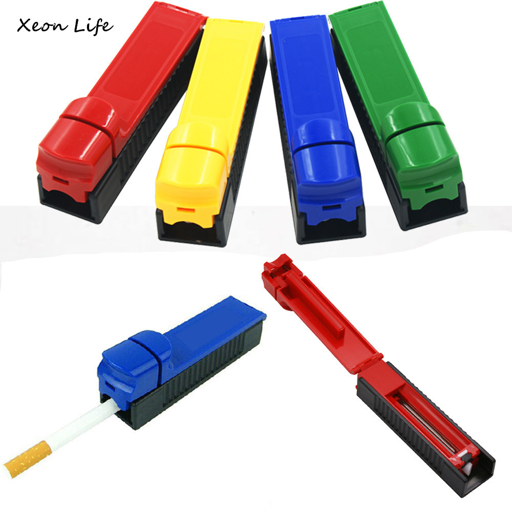 Hot Selling New 1pc 11.5cm Manual Cigarette Tube Rolling Machine Tobacco Roller Maker Random Color Manual Cigarette Tube Rolling