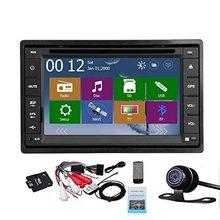 2 Din coche auto Radios unidad principal en el tablero estéreo de 6.2 pulgadas pantalla táctil LCD DVD Reproductor de CD MP3/MP4 /USB/sd/AM/FM Radios Bluetooth audio G