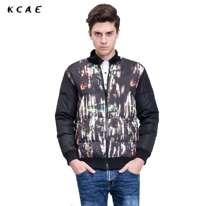 New Men Jackets Winter Cotton Padded Jacket Men's Casual Zipper Warm Parka Fashion Stand Collar Thicken Print Outerwear Coat 2016 new men thick warm parkas outerwear fashion stand collar zipper casual down jacket male plaid patchwork winter coat a4583