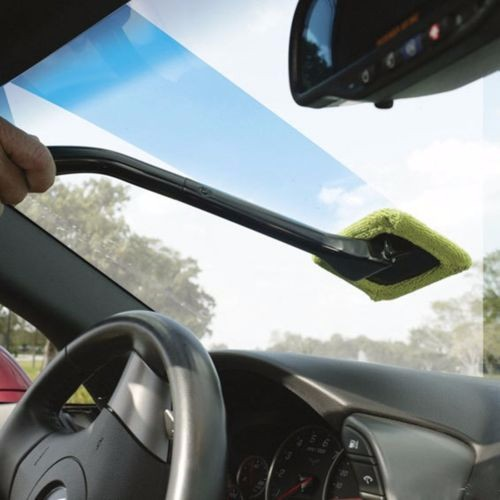 Washable Long Handle Auto Window Cleaner Windshield Wonder Microfiber Car Wash Brush Dust Car Cleaning Tool Car Care Glass Towel
