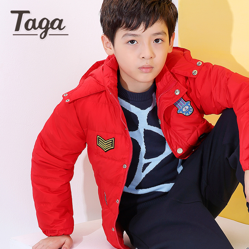TAGA Baby Winter Children outerwear Kids down clothes hooded down coat girls boys coat solid baby 80% duck down clothing jackets boys fleece jackets solid coat kid clothes winter coats 2017 fashion children clothing