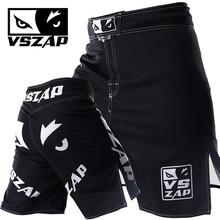 Najnowszy VSZAP Muay Thai wybuchu walki wilk trwałe tkaniny elastyczne krocza tanie szorty do MMA mężczyźni tanie spodenki tanie tanio trunks Boks mma shorts Pasuje prawda na wymiar weź swój normalny rozmiar Rayon Poliester Zwierząt boxing shorts shorts men