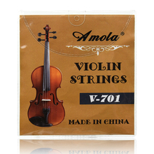 Violin Strings  Stainless Steel Nickel Wound Violin Strings 4 pieces E A D G for 4/4 1/4 1/8 3/4 0.28 0.50 0.60 0.76 Common Size