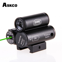 Askco Tactical Red Green Laser Sight+LED Flashlight Combo for Hunting Airsoft Pistol Gun 20mm Picatinny Rail Mount