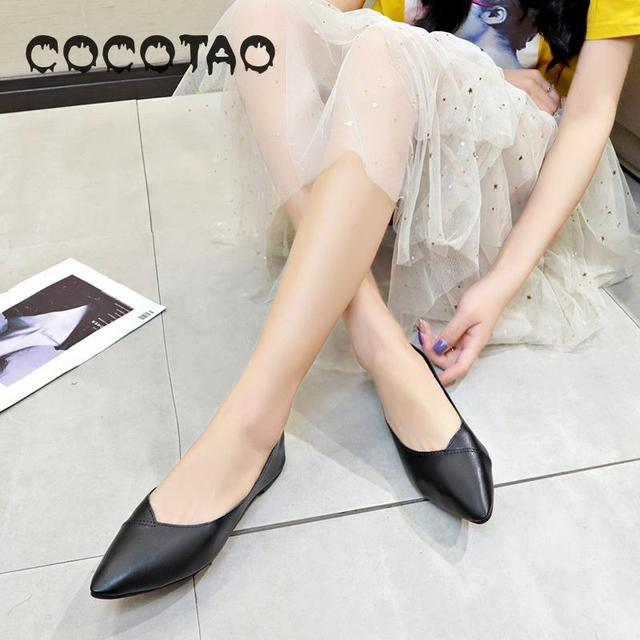 Nethong Shoes Of The Same Style In Spring And Summer 2019 New Korean Version Baitao Pointed Single Shoe Flat Sole Shallow17