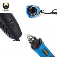 FGHGF 220V 480W Mini Electric Grinder Accessories Regulating Speed Drill Grinding Machine Milling Polishing Rotary Tool