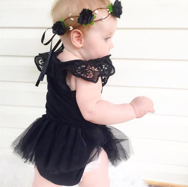 Baby Girl Infant Newborn Kids Tutu Bodysuit Playsuit Jumpsuit Romper Dress Skirt