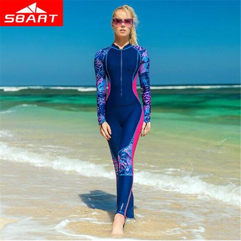 SBART Professional Women Lycra Wetsuit Diving Suit Swimwear Full Body Rash Guard Jellyfish Clothes Snorkeling Wetsuits