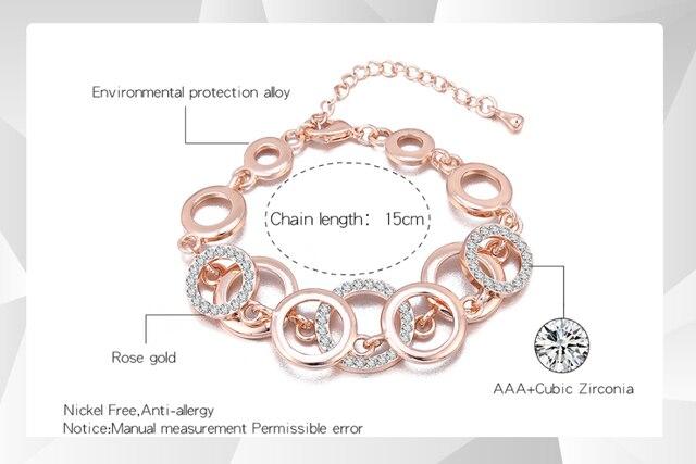 Модные Браслеты Стразы для женщин розовое золото серебристые