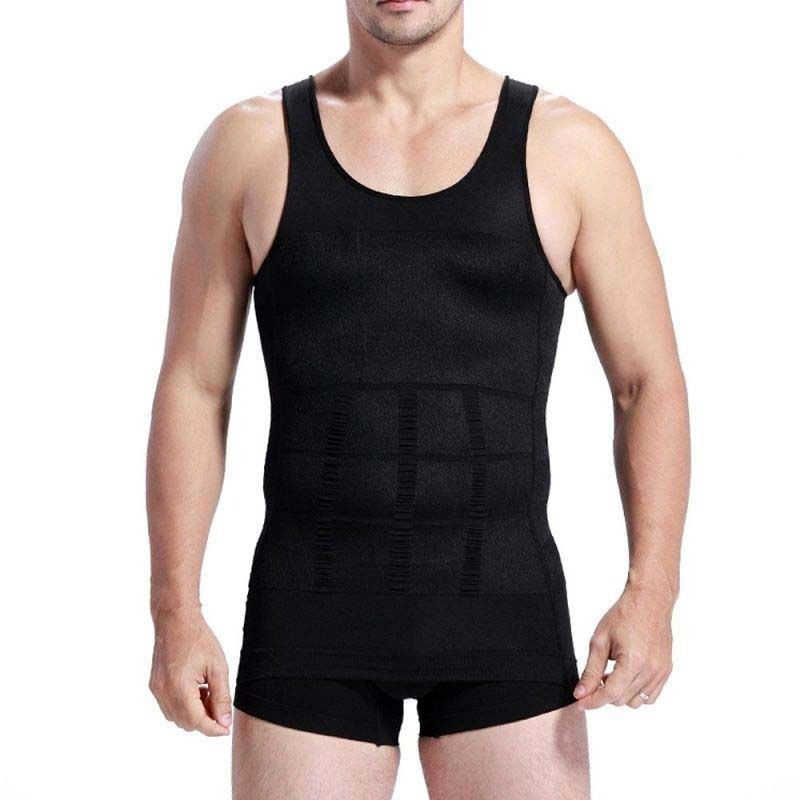 9599c72b23 hirigin Men Slimming Body Shaper Vest Belly Buster Underwear Comperssion  Running Sports Gym Fitness Athletic T