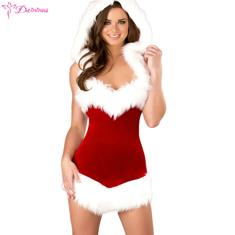 Sex Underwear <font><b>Christmas</b></font> Lingerie Sets Women <font><b>Sexy</b></font> Pajamas Babydoll Sleepwear Ladies Red Fancy Dress <font><b>Costumes</b></font> Cosplay <font><b>Outfit</b></font> Sets image