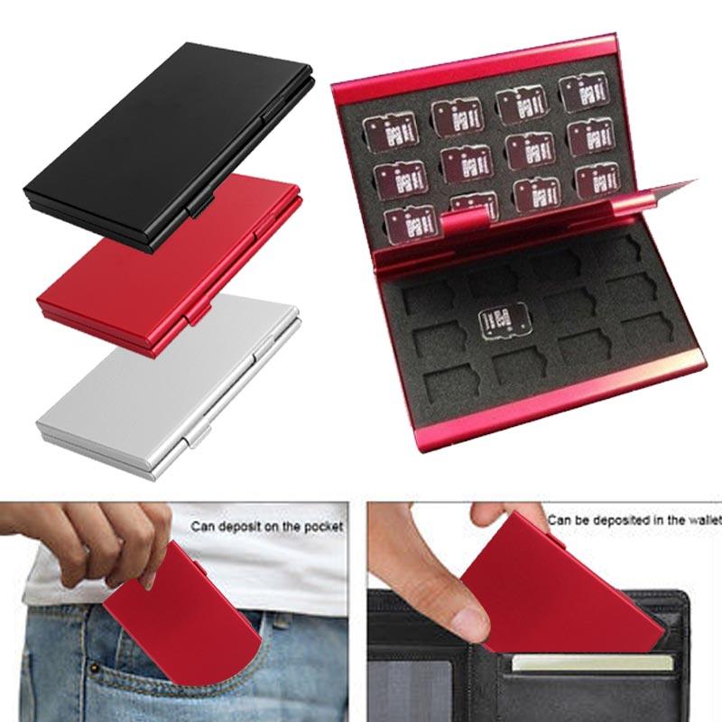 Monolayer Aluminum 24TF Card Box Storage Box Memory Card Case Mini  Card Organizer Storage Gadget Home Computer