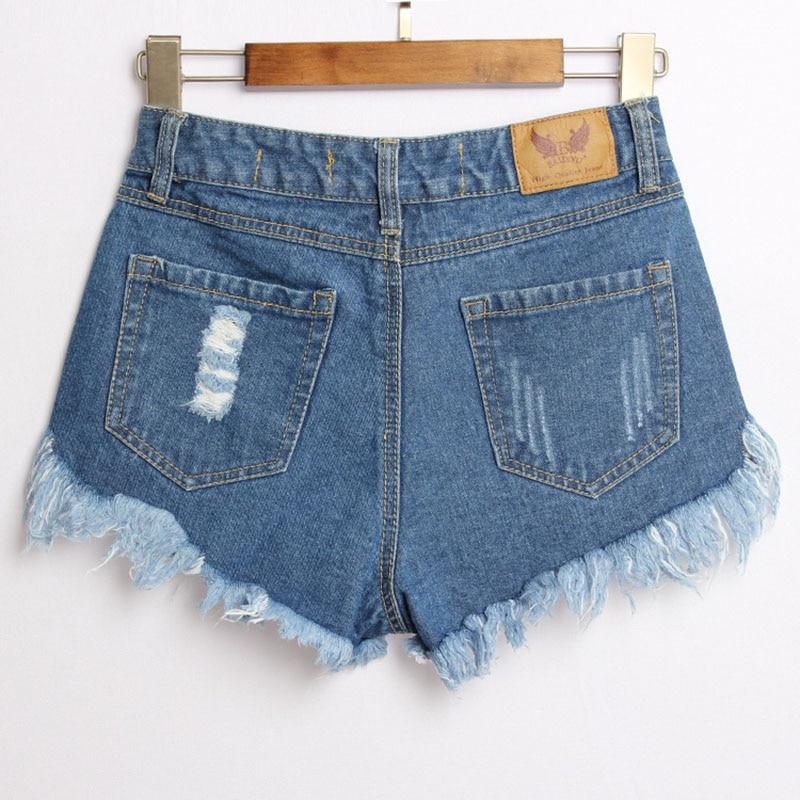 Niza Remaches Mujeres Pantalones Vogue Del Algodón Verano Sueltos Femenina Blue Mezclilla Agujero Se Calle Marea Paño De Pop Cortos rn75qxwC8r