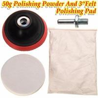 50g Cerium Oxide Polishing Powder And 3 Felt Polishing Wheel Pad Drill Adapter Durable Quality