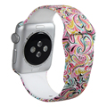 Banda para apple watch muilt color reemplazo wrist band pulsera banda de silicona durable suave para apple watch