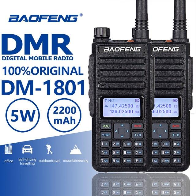 2個2019 baofeng DM 1801 dmrデジタルトランシーバー一層1/2アマチュア無線uhf vhf walkyトーキープロcbラジオステーションtelsiz