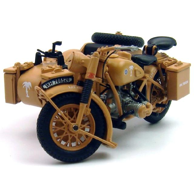 atla 1:24 World War II Ger man R75 1939-1945 Motorcycles  Model Favorites Model three wheeled motorcycle sidecar