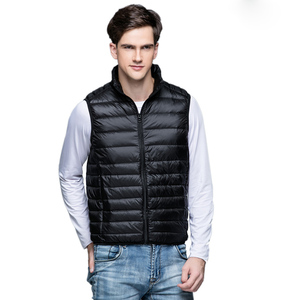 Image 3 - Spring Man Duck Down Vest Ultra Light Jackets Men Fashion Sleeveless Outerwear Coat Autumn Winter Coat 90% White Duck Down