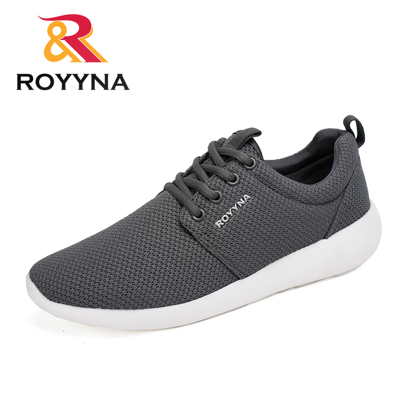 ROYYNA New Mesh Style Men Casual Shoes Light Soft Comfortable Top Quality Shoes For Men Lace Up Breathable Fast Free Shipping mesh yoke lace applique top