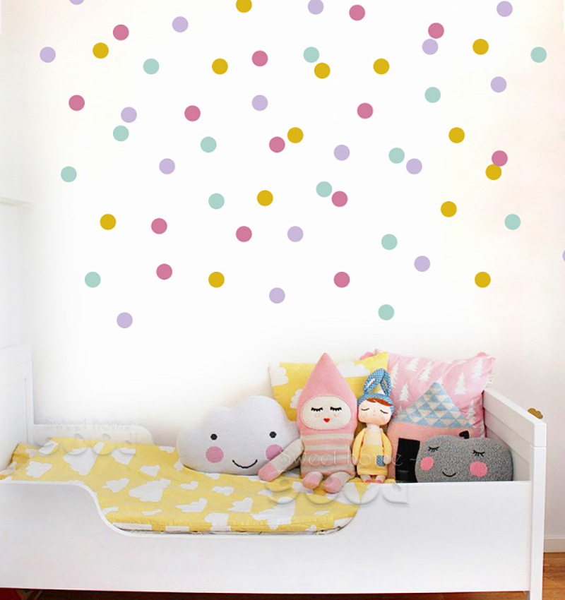 Aliexpress.com : Buy Mix Color Polka Dots Wall Sticker Wall Decal,  Removable Home Decoration Art Wall Decor, Wall Art DQ447 2 From Reliable Sticker  Wall ... Part 79