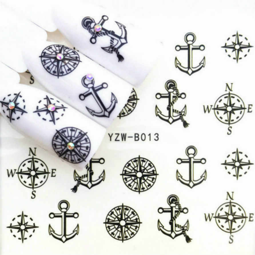 LOLEDE Anchor AndCompassสีเล็บเล็บเล็บArt Glitter FlakesเจลStarหัวใจดอกไม้Paillette Decor ToolAccessories 1001