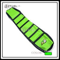New Green And Black Rubber Motorcycle Soft Grip Gripper Soft Seat Cover For KX KX125 KX250