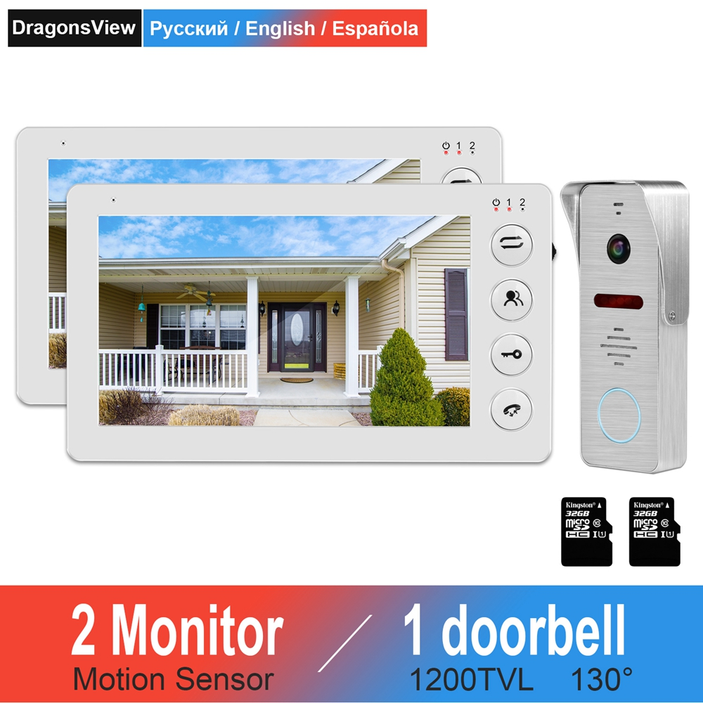 Video Door Phone Intercom Support Motion Detect 7inch Indoor Monitor X3 IR Doorbell Camera X3 For Home Video Intercom System Kit