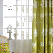 Fabric Blackout Curtains Elegant Drapes For Living Room Panels Embroidered Snowflake Christmas Decoration Kids Window Treatments